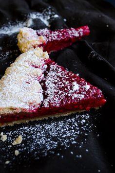 Give Recipe | Rustic Raspberry Tart | http://www.giverecipe.com