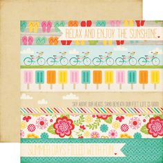 echo park, seasonal summer, summer bliss paper- Summer_Days