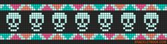 frise - frieze - tête de mort - point de croix - cross stitch - Blog : http://broderiemimie44.canalblog.com/