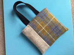Handmade by Sue Brightling Country Casual, Harris Tweed, Burlap, Reusable Tote Bags, Handmade, Hand Made, Hessian Fabric, Craft, Jute