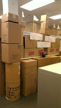 Cubical castle-best office birthday ever!!!!