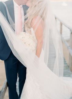 Photography : Lynette Boyle Photography | Wedding Dress : Matthew Christopher Read More on SMP: http://www.stylemepretty.com/massachusetts-weddings/harwich/2015/07/20/cape-cod-wedding-at-wequassett-resort/