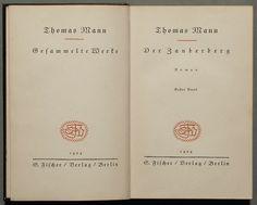 Reference book /// Der Zauberberg, first German edition, 1924  image taken from: https://en.wikipedia.org/wiki/The_Magic_Mountain#/media/File:1924_Der_Zauberberg_%281%29.jpg