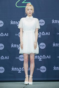 Taeyeon of South Korean girl group Girls' Generation attends the OnStyle 'Channel SNSD' Press Conference at Imperial Palace Hotel on July 21 2015 in...