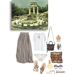 """Travel Journals: The Oracle of Delphi"" by ghoulnextdoor on Polyvore"
