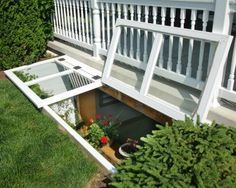 Glass Block Basement Window With Air Vent And Dryer Vent