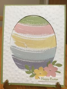 I realize it's a bit late for Easter, but think NEXT YEAR! LOL I wanted to share this beautiful card which I first saw on Pinterest and I think it was shared by Tami White - but who knows where it originally came from. Anyway, I LOVE how it turned out and used it as a demonstration in my March stamp club! The Work of Art stamp set was definitely not my first choice from the new catalog last year, but then......well......all these enablers started sharing these wonderful ideas and they are…