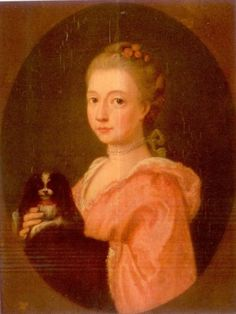 Attributed to Johann Heinrich Tischbein (German, 1722-1789), Portrait of a Woman and Her Dog, Unsigned. Oil on panel, 7 1/2 x 5 1/2 in. Provenance: Descended within the family of the Countess von Platen Hallermund.