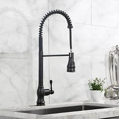 Oil Rubbed Bronze Kitchen Faucet Pull Out Sprayer Kitchen Faucets