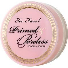 Too Faced Primed & Poreless pressed powder (€23) ❤ liked on Polyvore featuring beauty products, makeup, face makeup, face powder, beauty, too faced cosmetics and compact face powder