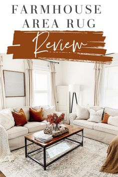 Budget friendly affordable farmhouse style rugs. Full review of Boutique Rugs! #arearugs #livingroomdecorideas #farmhouselivingroom