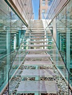 Concrete tread, glass balustrade - SoHo Triplex Has It All