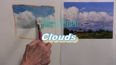 Answering another question about painting clouds, art teacher/artist Dianne Mize walks you through the basics in Quick Tip 220 - More About Clouds. Oil Painting Lessons, Painting Videos, Watercolor Sky, Watercolor Paintings, Watercolour Tutorials, Art Techniques, Painting Clouds, Art Studios, Painting Inspiration