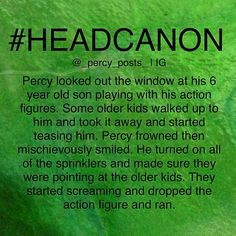 I can so see Percy doing this>>>>>>>go Percy & his Son!!!!<<<<<yay their a good team!!!!