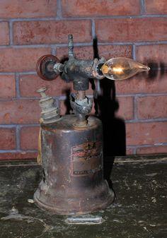 Vintage blow torch lamp by Fleamarketfloozys on Etsy