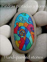 Homenatge a la meva profe d'Anglès, que pinta pedres a mà.