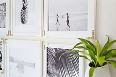Try This: Update Simple Frames With Gold Hardware