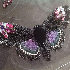 Большая и красивая бабочка скоро кого-то порадует#Butterfly #fashion_embroidery #embroidery #вышивка #бабочка #авторские_украшения_от_Людмилы