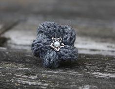 Einzigartiger Ring... * einfach gestrickt *