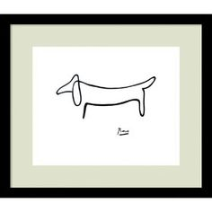 """""""Le Chien (The Dog)"""" by Pablo Picasso Framed Painting Print"""