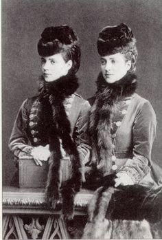 Princess Alexandra (later Queen Alexandra of England) and her sister, Dagmar (later Tsarina Maria Feodorovna), mother to the last Tsar, Nicholas II.