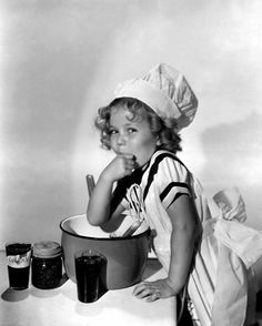 Shirley Temple cute in the kitchen