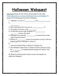 think like a historian with a halloween webquest utilize the history - Halloween Web Quest