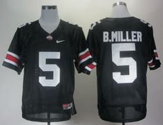 7bb7e3504 Ohio State Buckeyes 5 Braxton Miller Black College Football NCAA Jersey