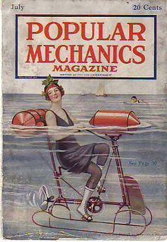 "1919 MAGAZINE: ""Popular Mechanics"" July issue - Transatlantic Flight Kudzu [NOT to be confused with ""Popular Science""]"