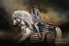 Lady Godiva Digital Art by Shanina Conway