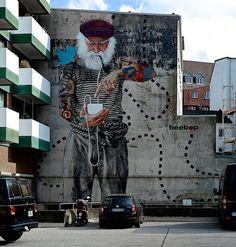 Fischersnetz - Street Art by Innerfields in Hamburg, Germany 2