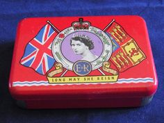 Vintage OXO Tin Commemorating the Coronation of Queen Elizabeth II 1953 Collectible vintage Oxo tin Royal Kitchenalia Royal Collectible Tin English Royalty, Interesting Information, Queen Elizabeth Ii, Vintage Advertisements, Reign, Black And White, Nice, Prints, Collection