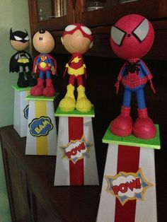 The Candy Box & More -super hero's centerpiece ideas with #blumeboxes
