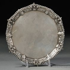 George III Sterling Silver Salver | Sale Number 2754B, Lot Number 2 | Skinner Auctioneers