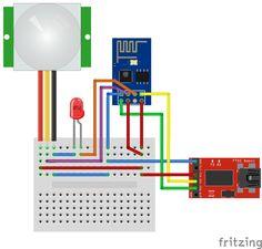 Op deze pagina vind je een voorbeeldom via de ESP-01 module een infrarood…