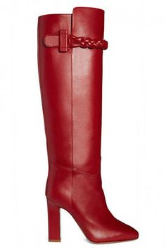 Shop the best in fall shoes including these Valentino boots here: Red Leather Boots, Red Boots, Tall Boots, High Boots, Heeled Boots, Bootie Boots, Shoe Boots, Women's Boots, Valentino Boots