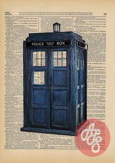 The Original TARDIS Doctor Who Geek Print on an by AvantPrint, $7.00