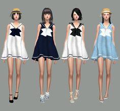 Sailor Dress_세일러 원피스_여자 의상