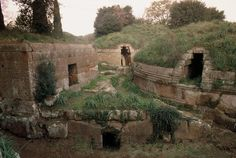 Etruscan Necropolises of Cerveteri and Tarquinia These cemeteries reflect different types of burial practices from the 9th to the 1st century BC.Cerveteri contains thousands of tombs organized in a city-like plan, with streets, small squares and neighborhoods. These provide the only surviving evidence of Etruscan residential architecture.Tarquinia is famous for its 200 painted tombs, the earliest of which date from the 7th century BC.