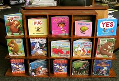 Our board books for children are always on display in the youth section of the Lester Public Library.