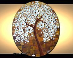 Abstract Tree Painting Abstract landscape painting by ZarasShop