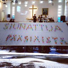 Ylösnousemuksen aamun kirkko. #joy #heisrisen
