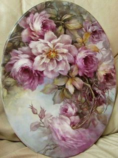 Hand painted porcelain.  So pretty.