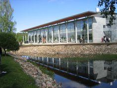 Suomen Kivikeskus and Tulikivi headquarters in Juuka, North Karelia Finland.