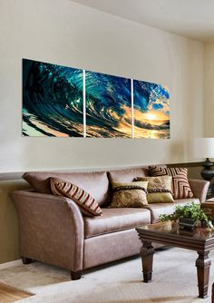ideeli | COPIART 20''x20'' Pipeline Wave Triptych