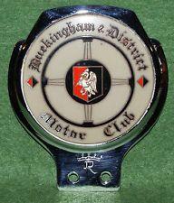 Rare Buckingham District Motor Club Car Vintage Bar Badge By Renamel Excellent