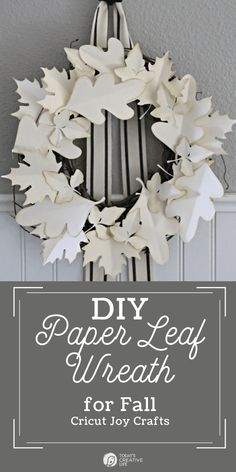 How to Make a DIY Paper Leaf Wreath using your Cricut Joy. Easy fall decorating with papercrafts. Fall Wreath Ideas for easy autumn decor. See TodaysCreativeLife.com for a tutorial. Diy Craft Projects, Diy Crafts For Kids, Decor Crafts, Craft Ideas, Diy Paper, Paper Crafts, Paper Leaves, Beautiful Houses Interior, Holiday Gift Tags