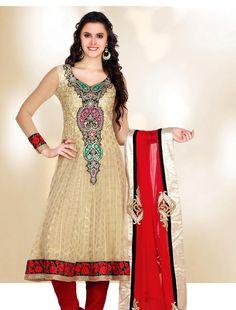 Adorable Beige Brown Salwar Kameez  ❀ http://www.gravity-fashion.com/9464-adorable-beige-brown-salwar-kameez.html ❀    £92.75