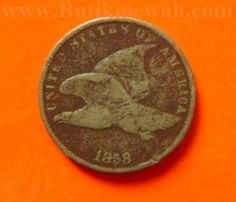 1958 US flying eagle 1 cent coin