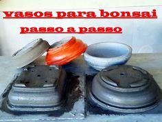 VASO DE CONCRETO PARA BONSAY, SUCULENTAS, CACTOS, ROSAS DO DESERTO ETC....GANHE UM DINHEIRO EXTRA - YouTube